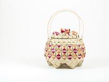 Бамбуковая корзина Стоковое Фото