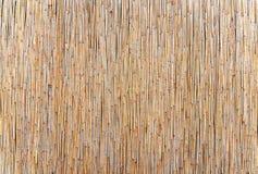 Бамбуковая коричневая циновка соломы как абстрактное compositio предпосылки текстуры Стоковое Фото