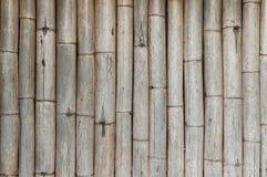 Бамбуковая предпосылка загородки, старые бамбуковые текстуры Стоковое Изображение RF