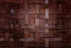 Бамбуковая предпосылка текстуры weave Стоковое Изображение RF