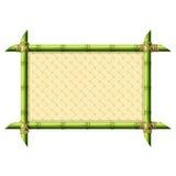Бамбуковая рамка с плетеной картиной иллюстрация вектора