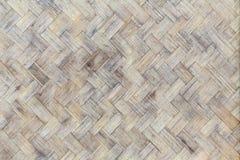 Бамбуковая древесина weave от handmade корзины ремесел Стоковая Фотография