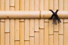 Бамбуковая стена Стоковая Фотография