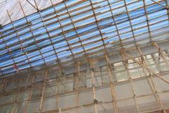 Бамбуковая строительная площадка Гонконг лесов стоковые изображения