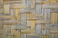 Бамбуковая текстура картины weave для предпосылки Ретро деревянная стена VI Стоковые Изображения RF