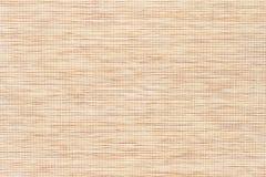 Бамбуковая текстура с точной сплетенной тканью Стоковая Фотография RF