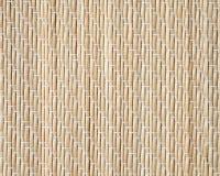 Бамбуковая циновка, крупный план детализировала текстуру предпосылки Стоковые Фотографии RF