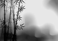 Бамбуковое влияние чернил Stylization под работой китайских художников стоковое изображение