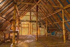 Бамбуковое здание для выставки о образе жизни на береге реки Sel Стоковое фото RF