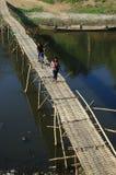 Бамбуковое скрещивание моста Стоковая Фотография RF