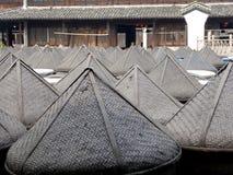 Бамбуковой сформированная шляпой крышка алтара соуса Стоковые Фото