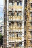 Бамбуковые конструкции ремонтины стоковые фото