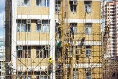 Бамбуковые конструкции ремонтины стоковое фото