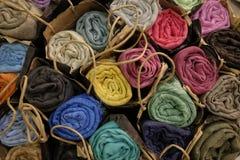 Бамбуковые шарфы волокна стоковое фото rf