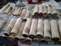 Бамбуковый липкий рис Стоковая Фотография RF