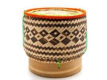 Бамбуковый контейнер для липкого риса стоковое фото