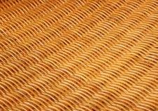 Бамбуковый крупный план basketwork на старом стуле Стоковые Фотографии RF
