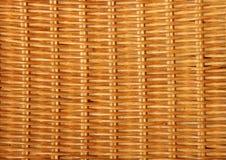 Бамбуковый крупный план basketwork на старом стуле Стоковые Фото