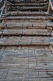 Бамбуковый мост в Sangklaburi, buri Kanchan Стоковое Фото