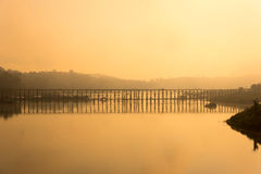 Бамбуковый мост Стоковые Фото