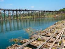 Бамбуковый мост стоковое фото rf