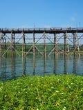 Бамбуковый мост стоковые фотографии rf