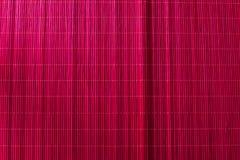 Бамбуковый пинк скатерти стоковая фотография rf
