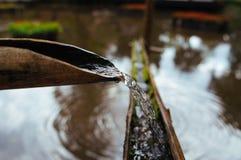 Бамбуковый путь воды стоковая фотография rf
