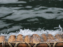 Бамбуковый сплавлять Стоковая Фотография RF