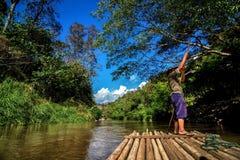 Бамбуковый сплавлять Стоковые Изображения RF