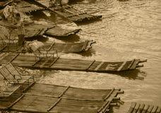 Бамбуковый сплоток Китая GuiLin Стоковое Изображение RF