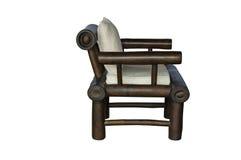 Бамбуковый стул при изолированная подушка Стоковое Изображение RF