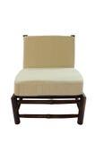 Бамбуковый стул при изолированная подушка Стоковое фото RF