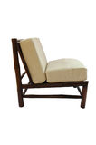 Бамбуковый стул при изолированная подушка Стоковые Изображения RF