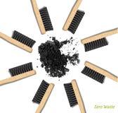 Бамбуковый уголь зубных щеток иллюстрация вектора
