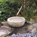 Бамбуковый фонтан Стоковое Изображение RF