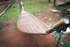Бамбуковый weave гамака Стоковое фото RF