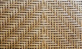 Бамбуковый weave как предпосылка Стоковое Изображение