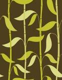 бамбук выходит картина безшовным Стоковые Фото