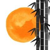 Бамбук запруживает предпосылку Стоковая Фотография RF