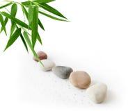 Бамбук и камушки Стоковое Изображение