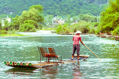 Бамбук на реке Li в Yangshuo Китае стоковое фото rf