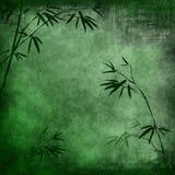 бамбук разветвляет старая бумага Стоковое Изображение