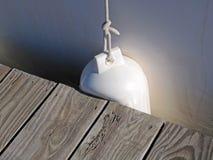 Бампер шлюпки Марины стоковое изображение
