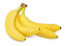 4 банана изолированного на белизне Стоковые Фото