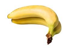 2 банана изолированного на белизне Стоковое Изображение RF
