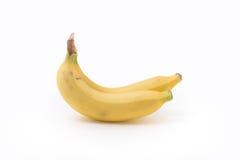 2 банана изолированного на белой предпосылке Стоковые Фотографии RF