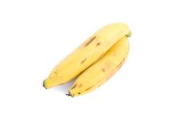 2 банана изолированного на белой предпосылке Стоковое фото RF