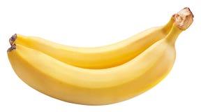 2 банана изолированного на белой предпосылке Стоковая Фотография