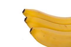 3 банана изолированного на белой предпосылке Стоковые Фото